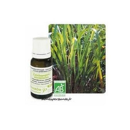 Aceite esencial orgánico de hierba limón de Java 10ml - Aromathérapie Pranarom