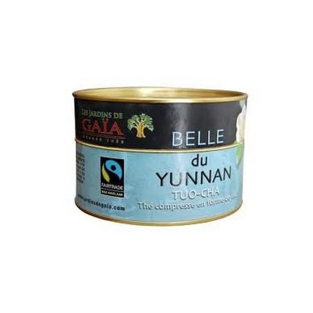 Belle du Yunnan Tuocha en nid compressé - Thé noir Jardins de Gaïa
