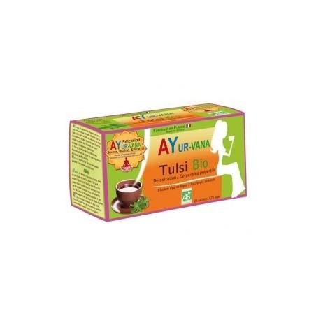 Tulsi Té de hierbas ayurvédico orgánico 25 infusiones - Desintoxicación Ayur vana