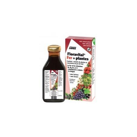 Floradix Floravital sans gluten 250ml - Apport en fer Salus