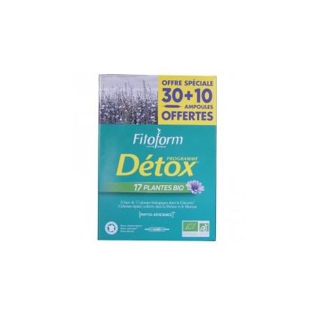 Lot Détox 2 boites Dépuratif aux 17 plantes bio - Détoxination bio Fitoform