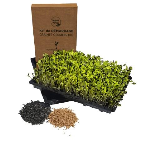 Kit de démarrage pour graines à germer bio germoir Nature & Partage